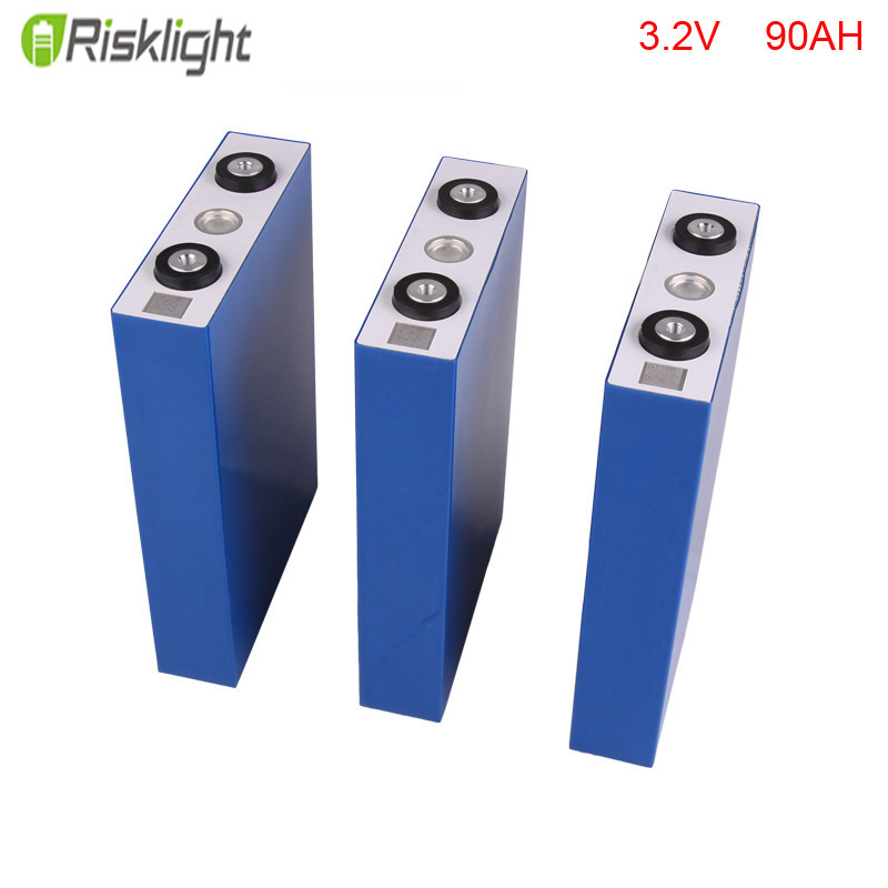 4pcs/lot deep cycle rechargeable lifepo4 battery 3.2v 90ah for solar power system/electric car/telecom/UPS