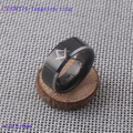 Free shipping Mens Fashion tungsten ring band with Masonic design engraved IP Black plated CXSOR174