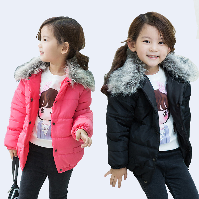 2017 Winter New Girls Thick Cotton Padded Jacket Children's Thickening Coat Kids Keep Warm Coat Kids Clothes Infant Girls Coat children winter coats jacket baby boys warm outerwear thickening outdoors kids snow proof coat parkas cotton padded clothes