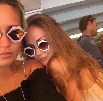 Bouche forme lunettes de soleil femmes marque Designer 2018 nouveau Sexy bouche lunettes de soleil femmes marque Designer lunettes de soleil UV400