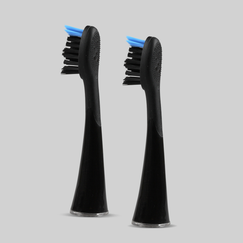 SEAGO 4pcs/lot Electric Toothbrush Heads Fits For SG9896/SG987 Smart Snap-on Brush Head Replacement Tooth Brush Head with Rubber