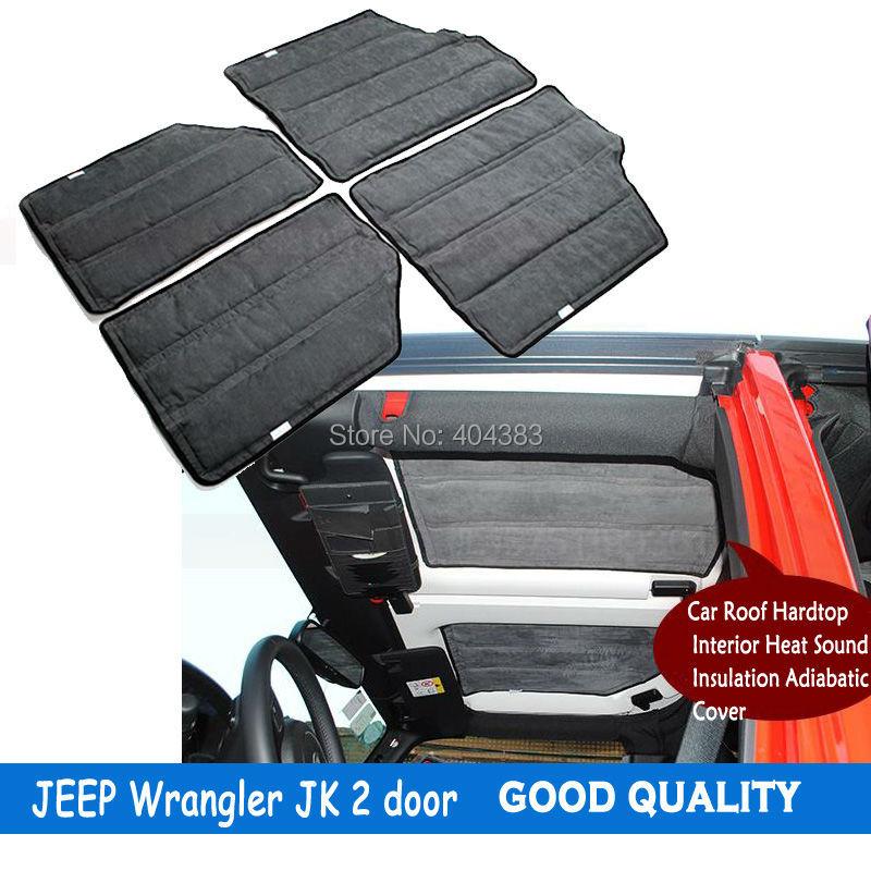 lowest price car accessories 4pcs per set sound deadener hard top insulation kit for jeep. Black Bedroom Furniture Sets. Home Design Ideas