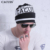 Cacuss 2017 mujeres del invierno del otoño gorros sombrero cruz gorros skullie letras de hip-hop de la bufanda de las mujeres al aire libre sombrero de cobertura de algodón casquillo de los hombres