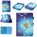 """3D Painting golden butterfly Pattern Flip leather case for Apple ipad mini2 3 ipad 2/3/4 air1 2 pro9.7"""" stand with card holder"""
