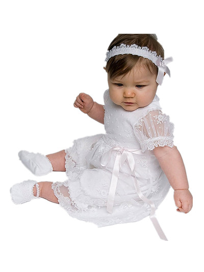 0-2T Baby Girls Baptism First Communion Dress Newborn Baby Girl Christening Gowns Dress Flower Girl Dresses 80250