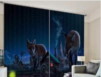דינוזאור חדש מודרני Blackout חלון וילון וולף טייגר 3D וילונות עבור חדר מצעים מלון סלון וילונות Cortinas דה Sala
