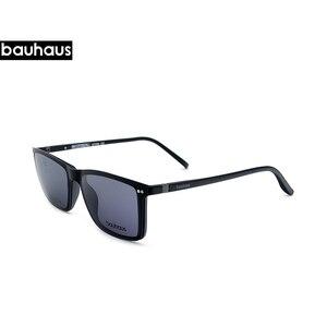 Image 4 - Gafas de sol ultrafinas para hombre, lentes ultrafinas con clip en marco óptico borde completo Vintage para miopía, antirreflejos/UV