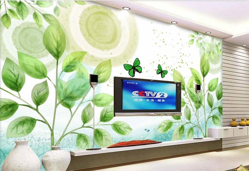 Custom children's wallpaper,Cartoon trees oil painting,3D cartoon wallpaper for bedroom children's room wall PVC wallpaper flame trees of thika