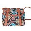 Старинные череп печать , женщины сумка седло кроссбоди мешок Bolsas Feminina женщина сумки  сумки через плечо   рюкзак женский  женская  сумка
