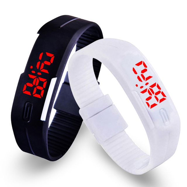 13 Colors Fashion LED Sports Bracelet Watch Men Digital Military Watches Childre