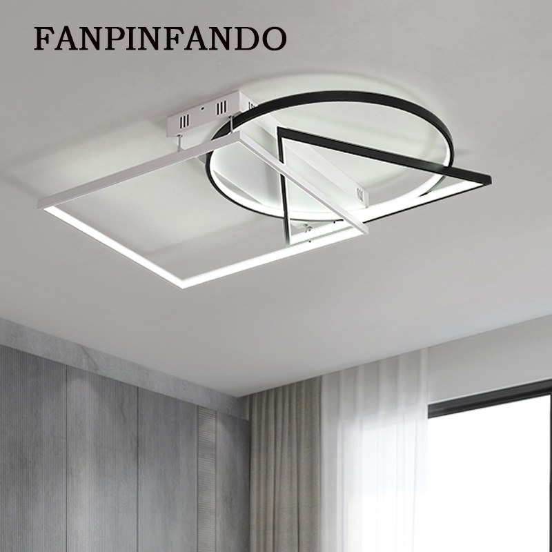 Creative Fashion Ceiling Lamp Led Ceiling Light for foyer Living room Bedroom Kitchen Black and White Ceiling Lamp 110V 220V led modern ceiling light creative round white living room lamp 110v 220v bedroom lighting stylish apartments ceiling lamps