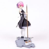Re:Zero Starting Life in Another World Ram Maid with Mop Ver. 1/7 Scale PVC Figure Collectible Model Toy 22cm