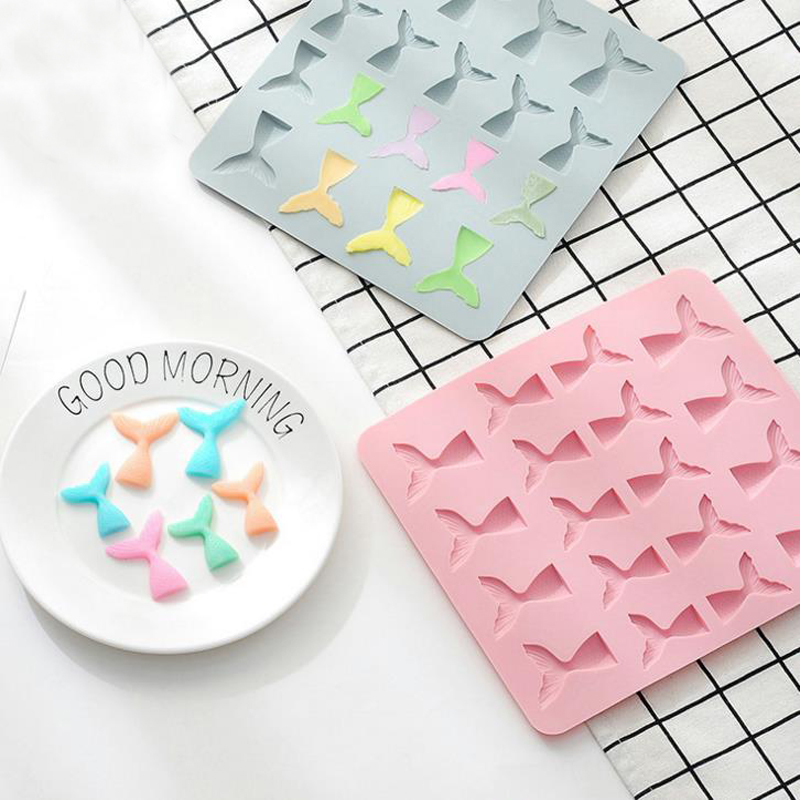 1 Pcs Kawaii Mermaid Tail Chocolate Silicone Mold Fondant Molds Cake Decorating Tools Cupcake Baking Accessories1 Pcs Kawaii Mermaid Tail Chocolate Silicone Mold Fondant Molds Cake Decorating Tools Cupcake Baking Accessories
