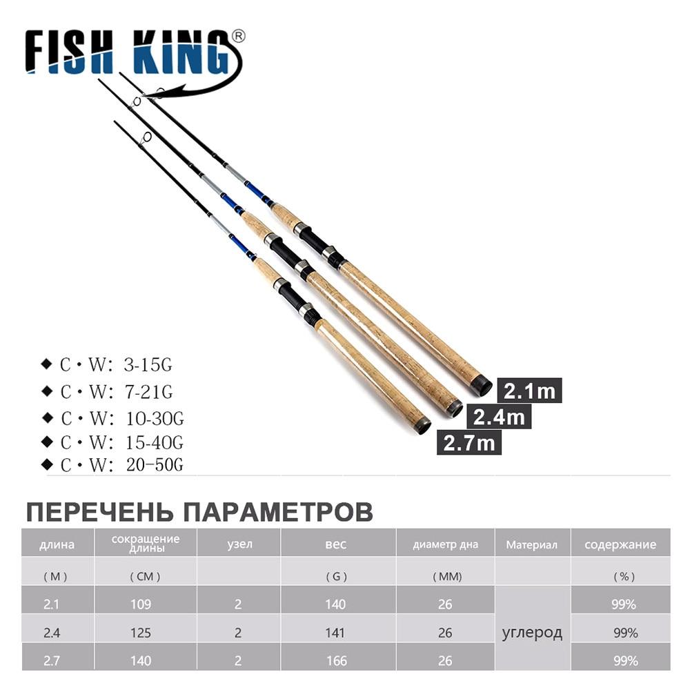 FISH KING 99% Carbon 2.1 M 2.4 M 2.7 M 2 Sectie Zachte Lokken Hengel - Visvangst - Foto 2
