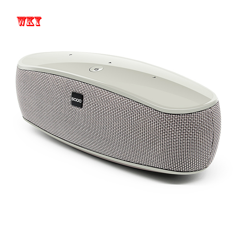 WKY Original Bluetooth V4.2 Speaker Supports NFC/FM/TF Card Wireless Portable Stereo Sound Speaker Super Bass With Mic For Phone kr8800 portable bluetooth v3 0 led speaker wireless nfc fm hifi stereo loudspeakers super bass caixa se som sound box for phone