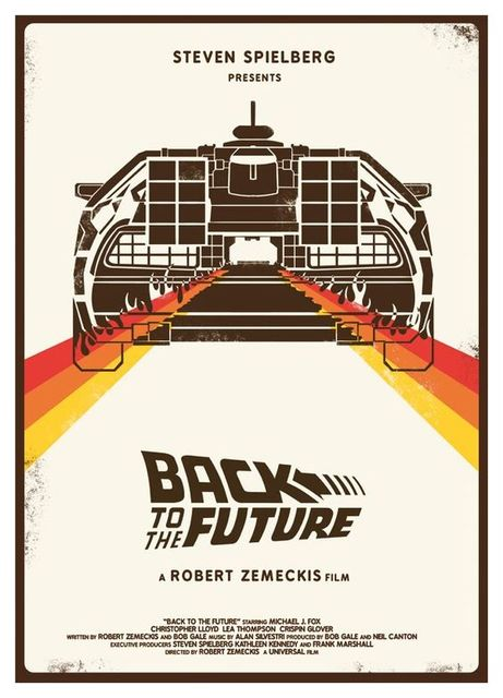 Back to Future Film Propaganda Vintage Retro Kraft Poster 16.5″X11.8″