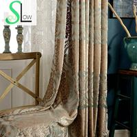 Slow Soul Exquisite French Window Green Boutique Living Room Floral Curtains For Luxury Cortinas Curtain Kitchen