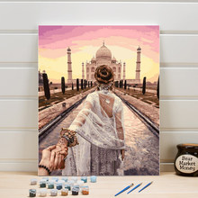 Drawing By Numbers Acrylic Paint On Canvas Oil Painting Kits Figure DIY Wall Picture For Living Room Home Decoration Art 40x50cm(China)