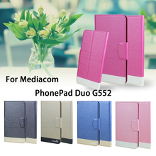 5 Colors Super! Mediacom PhonePad Duo G552 Phone Case Leather Full Flip Phone Cover,High Quality Luxurious Phone Accessories