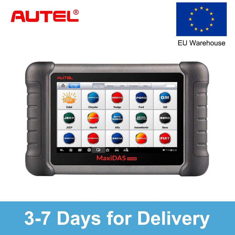 Autel MaxiDAS DS808 K שדרוג גרסה של DS708 DS808 מלא מערכת רכב אבחון וecu קידוד כלי עם מלא OBD OBD2 מתאמים