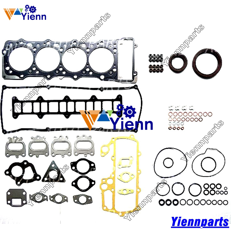 US $215 0 |Mitsubishii 4M51 4M51T Full gasket set ME994104 with head gasket  ME240708 for MITSUBISHI CANTER 4900 4M51 diesel engine parts-in Pistons,