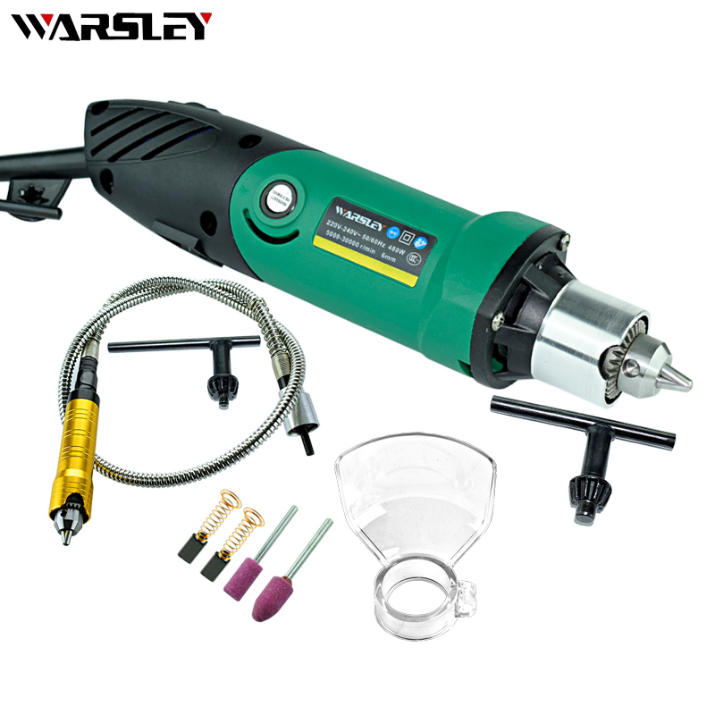 Image 3 - Dremel Style 480W Mini Electric Drill Engraver With 6 Position Variable Speed Rotary Flexible Shaft And Grinding Power Tools-in Electric Drills from Tools on
