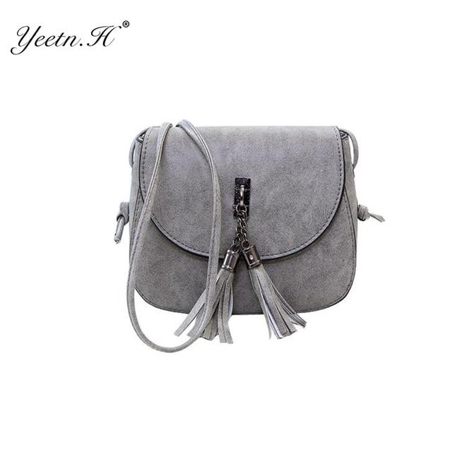 1aff884039 H Tassel Women Messenger Bags Vintage PU Leather High Quality Female  Shoulder Bag Women CrossBody Bags Sale Lady Y550