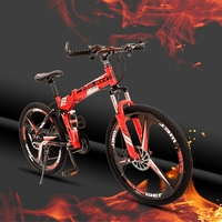 24 velocidad 26 pulgadas bicicleta Plegable bicicletas de carretera frenos de Doble disco de montaña plegable estudiante bicicleta bicicleta