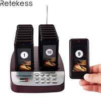 Retekess T113S Restaurant Pager Draadloze Paging Queuing Systeem 16 Call Coaster Pagers Zoemer 999 Kanaals Restaurant Apparatuur