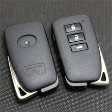 PINECONE 3 Buttons Car Key Case for LEXUS ES350 RX IS LS GX Smart Uncut Brass Blade Remote Blank Cover Shell 1 PC