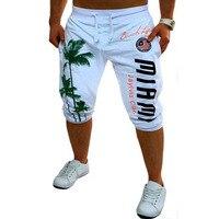 Shorts Mens Gym Tights Compression Palm Print Design Bermuda Basketball Short Gym Sport Men Homme Running