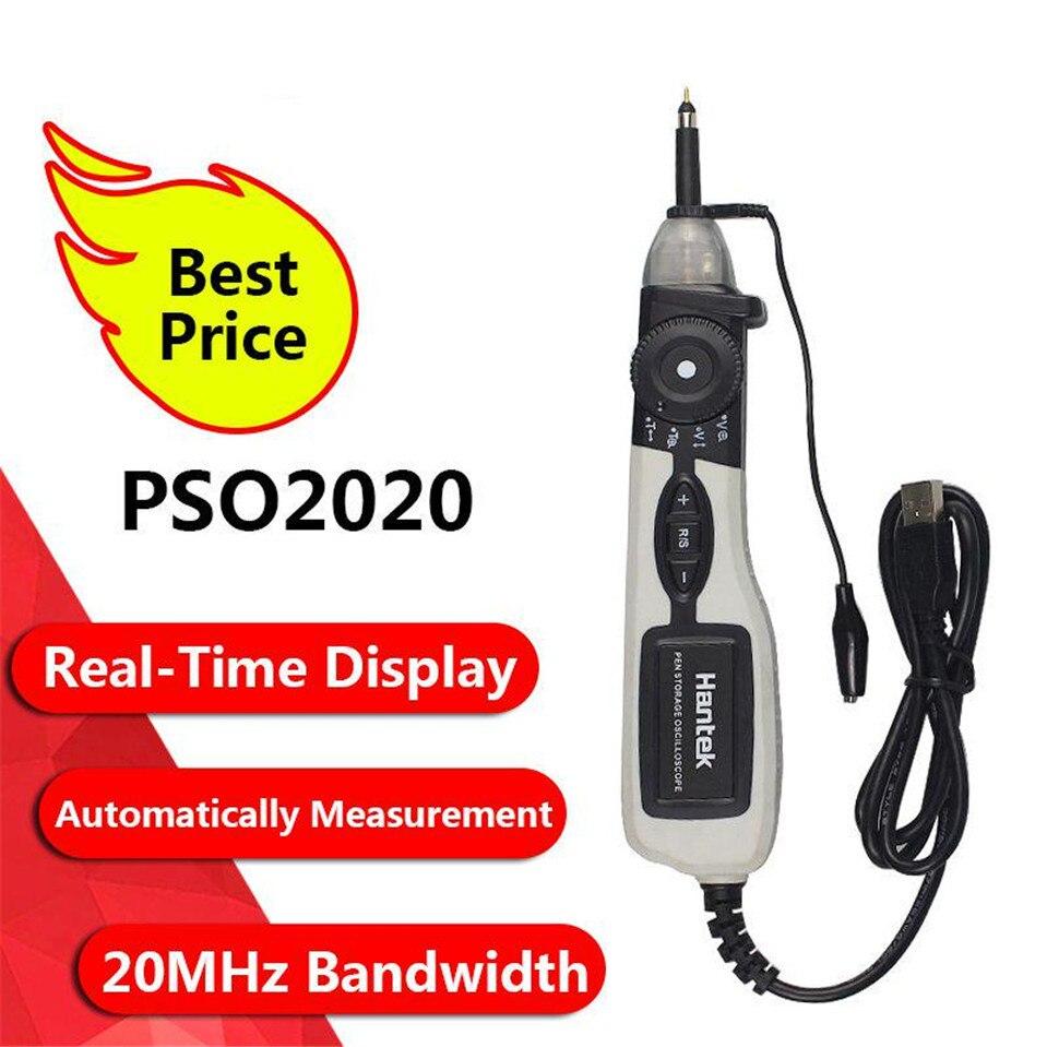 Hantek officiel PSO2020 USB stylo type stockage numérique Oscilloscope USB 1 canal 20 Mhz 96MSa/s outil de Diagnostic