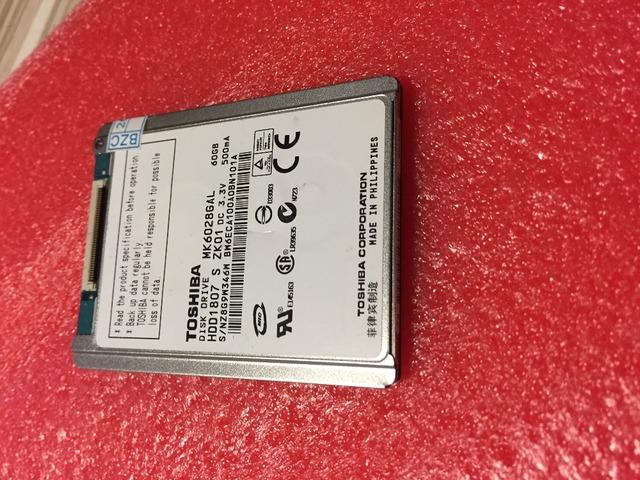 """NUEVO 1.8 """"CE/ZIF 60 GB MK6028GAL UNIDAD de DISCO DURO PARA EL ORDENADOR PORTÁTIL MINI MINI 1000 IPOD VIDEO CLASSIC REEMPLAZAR HS082HB HS06THB"""