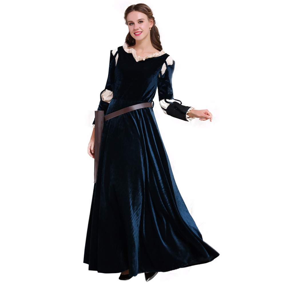 Cosplaydiy Custom Made Brave Merida Dress Outfit Costume Adult Women Witch Halloween Costume