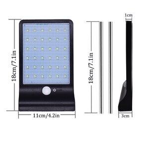 Image 3 - Новый 450lm 36 solar power led street light pir motion sensor лампы сад безопасность лампы открытый уличный водонепроницаемый настенные светильники