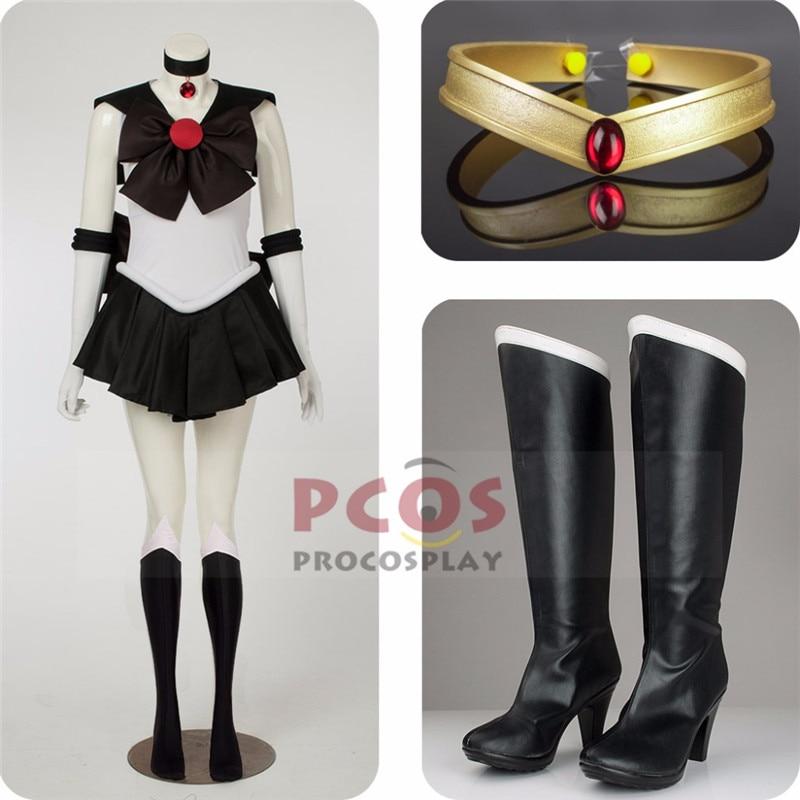 Cel mai bun pret Set ~ Sailor Moon Sailor Pluto Meiou Setsuna Cosplay - Costume carnaval