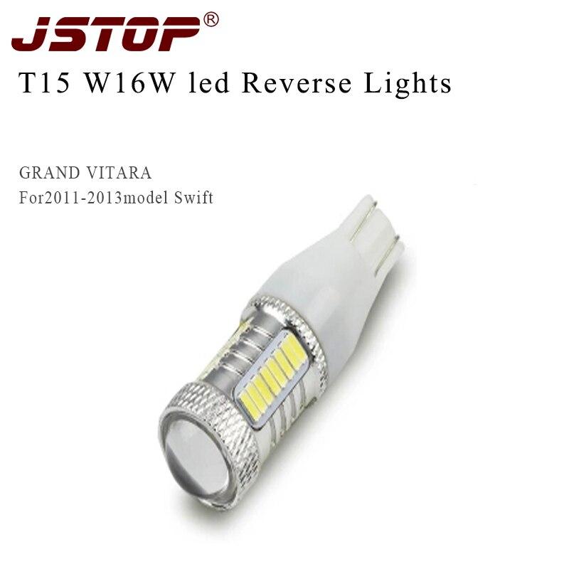 JSTOP Grand Vitara led high quality lamp 12v canbus bright backup bulbs T15 w16w 4014smd 6000k
