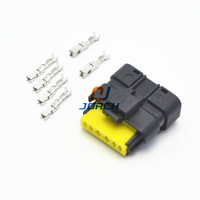 5 sets 6 pin automotive throttle valve plug FCI wiring harness waterproof Waterproof Wiring Harness on