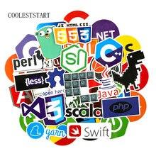 COOLESTSTART 73Pcs/Set Internet Java Graffiti Stickers JS