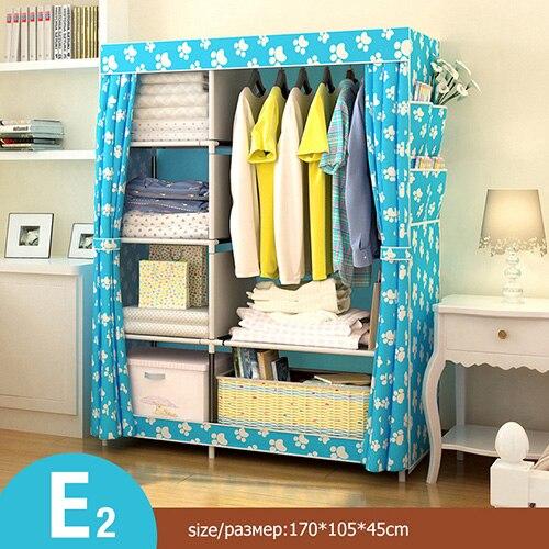 Многоцелевой нетканый Тканевый шкаф для спальни, складной портативный шкаф для хранения одежды, пылезащитный Тканевый шкаф, домашняя мебель - Цвет: HH340600CS8