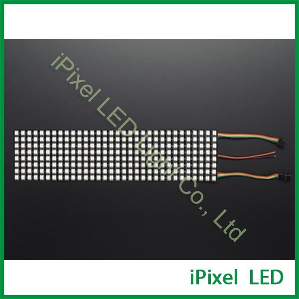 5v apa102 rgb matrix P10 led panel 8x32 newest screen flexible bendable ip20 apa102 rgb led matrix 256leds pcs