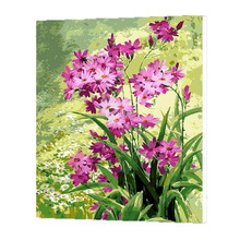 WONZOM Purple Flowers Oil Painting By Numbers DIY Abstract Digital Picture Coloring By Numbers On Canvas Unique Gift Home Decor diy digital oil painting by numbers kits coloring landscape painting by numbers unique gift for living room home decor 40 50cm