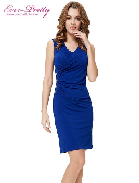 Fast Shipping Cocktail Dresses He03323 Ever Pretty Sexy V Neck Royal