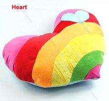 Lovely Soft Stuffed Plush Cushion Nap Rainbow Love Throw Heart Pillow Toys