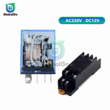 цена на DC 12V AC 220V 10A 8PIN Car Relay Module Power Relay Socket Base Holder LY2NJ HH62P Electronic Micro Mini Electromagnetic Relay