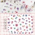 1 Sheet Ultrathin Adhesive 3D Nail Sticker Dim Flower Pattern Decal Nail Decoration