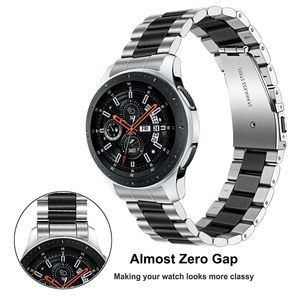 Image 3 - Quick Release Stainless Steel Watchband + No Gap Adapter for Samsung Galaxy Watch 46mm Gear S3 Band Silver Black Strap Bracelet