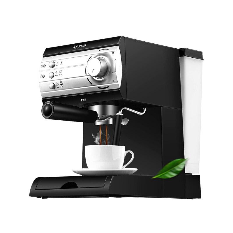 Donlim DL-KF6001 20Bar Espresso machine Fully automatic Steam type Playing milk foam DHL UPS  FEDEX Free shipping