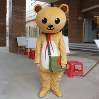Customized Bear Mascot Costumes Cartoon Character Halloween Fancy Party Dress