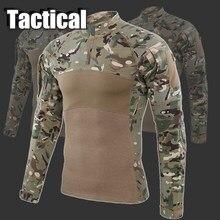 Уличная камуфляжная тактическая футболка, страйкбол, пейнтбол, мужские военные армейские рубашки, униформа для походов, охоты, рыбалки